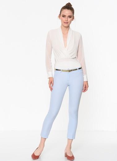 İroni Dar Paça Kumaş Pantolon Mavi